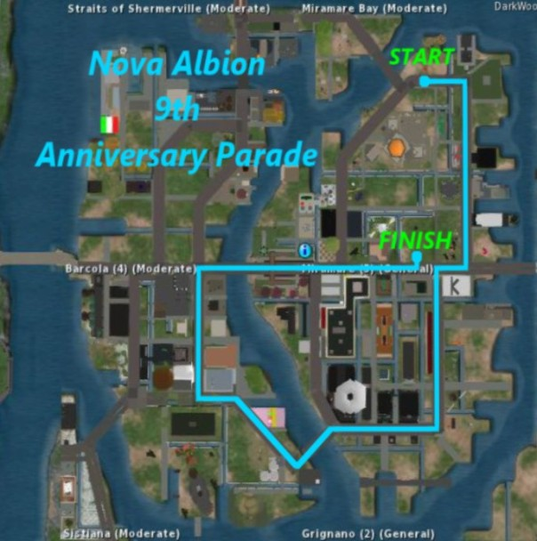 Nova Albion 9th Anniversary Map