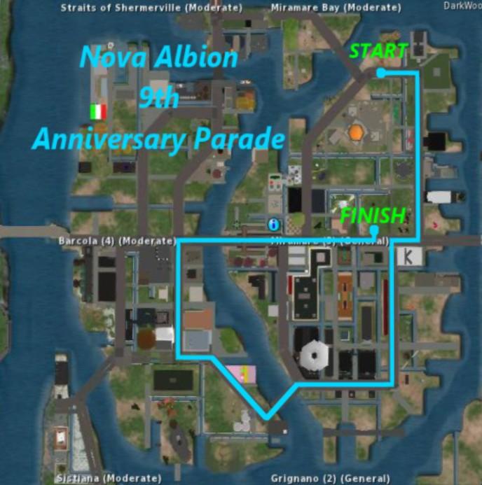 Nova Albion 9th Anniversary Map