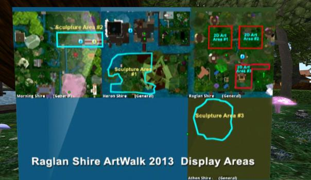 Raglan Shire artwalk 2013 map